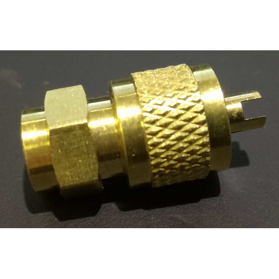 Service valve without pipe 6mm ods