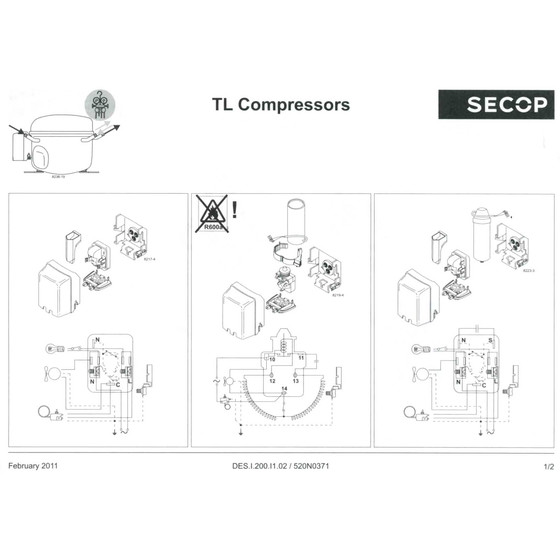 Kompressor Danfoss Secop TL5G, TL5GX