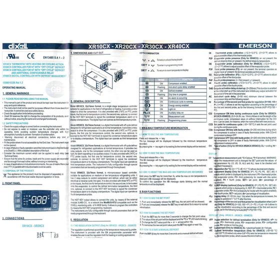 16 A 230 V panel Elektronischer Regler Dixell XR 70 CX