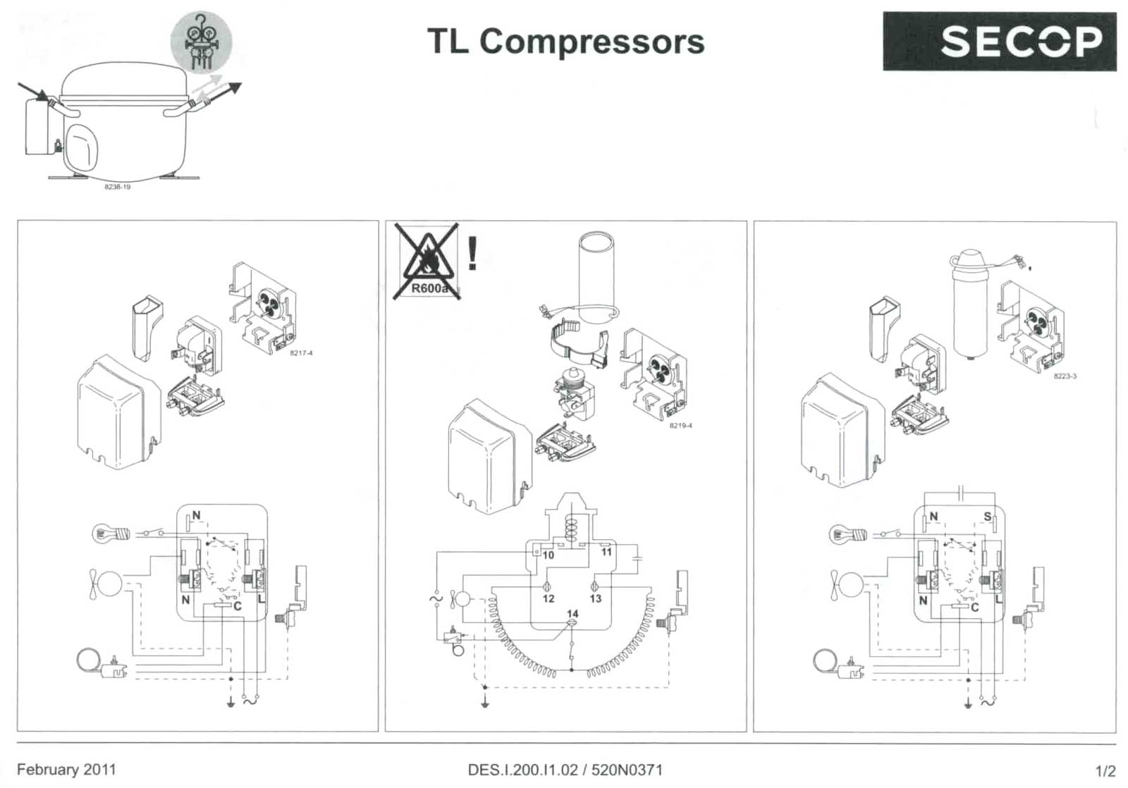 Maneurop Compressor Electrical Drawing | Wiring Diagram